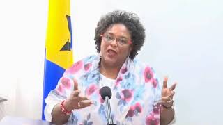 Prime Minister Mia Mottley reports back to Barbados after going to the IMF