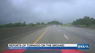 Reports of tornado on the ground near Kansas City