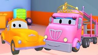 Oficina de Pintura do Tom: Flavy é princesa Charlotte | Desenhos animados de caminhão para crianças