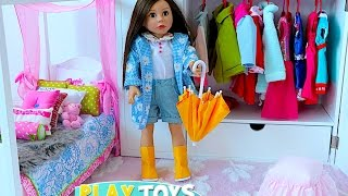 Baby Doll House toy! Play dolls closet wardrobe dress up w/ American girl doll!