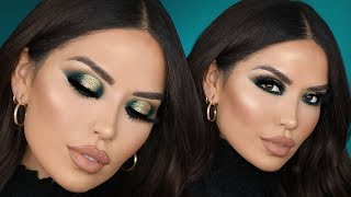 EMERALD AND GOLD HOLIDAY MAKEUP | iluvsarahii