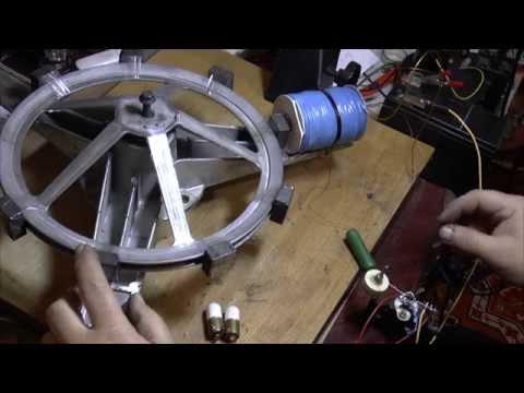 Пуск двигателя от стиральной машинки