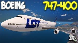 BOEING 747-400 (БОИНГ 747-400) - ГТА 5 МОДЫ - GTA 5 MODS - (ОБЗОР, БАГИ)