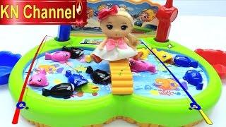 Đồ chơi trẻ em BÉ NA CÂU CÁ tập 11  Fishing games cùng búp bê Chibi Toy For Kids Baby Doll Kids toys