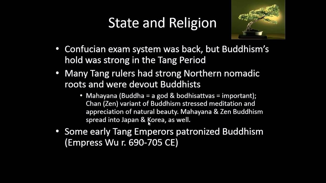 Differences Between the Song & Tang Dynasties