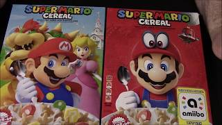 Comparing Super Mario Cereal Box Art