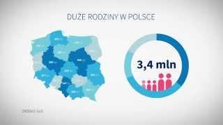 Karta Dużej Rodziny obniża koszty życia rodzin wielodzietnych w Polsce. Korzysta z niej już ponad mil