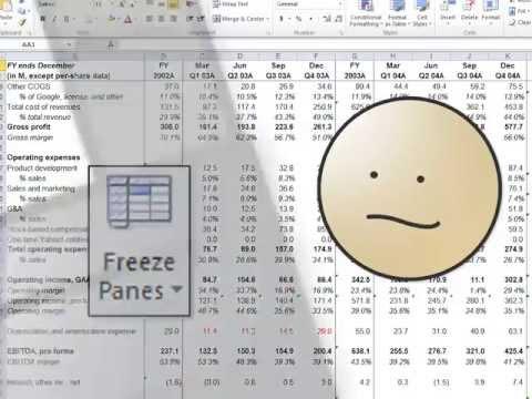 Freeze Panes in Excel