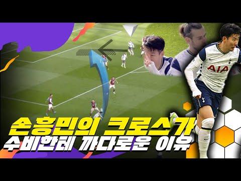 수비 입장에서 손흥민의 크로스가 까다로운 이유(feat. 손흥민 번리전 2어시)