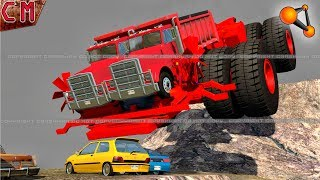Giant (HUGE) Machine Destruction BeamNG Drive