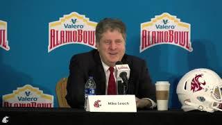 WSU Football: Mike Leach Alamo Bowl Press Conference Dec. 27