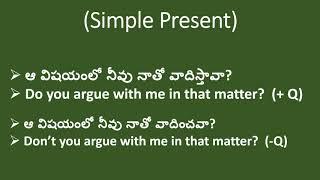Spoken English through Telugu |Argue|Learn English easily