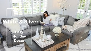 Decorate With Me: White Winter Wonderland Family Room Makeover | Dulce Candy