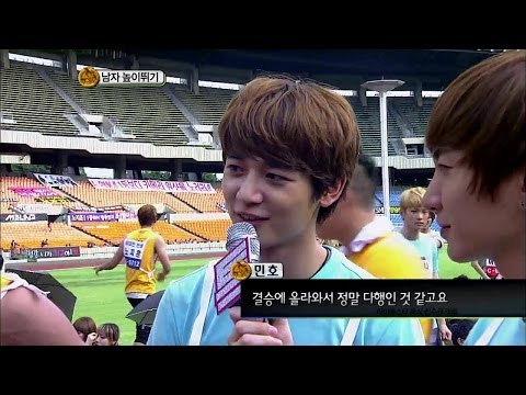 【TVPP】Minho(SHINee) - M High Jump Final, 민호(샤이니) - 남자 높이뛰기 금메달 @ 2011 Idol Star Championships