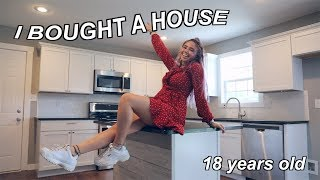 I bought a HOUSE at 18 YEARS OLD  + EMPTY house tour!!