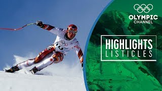 5 Courageous moments in Olympic Alpine Skiing | Highlights Listicles