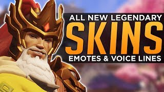 Overwatch: All NEW Year Skins, Emotes & Voice Lines!