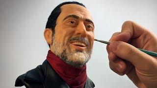 Negan Sculpture Timelapse - The Walking Dead