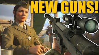 13 *NEW* GUNS FOUND IN COD WWII! 7th Division Details, Face Paint, Chrome Tiger & Early DLC3 Info!