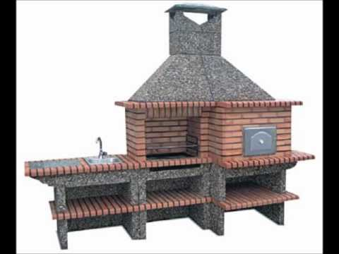 Brick Barbecue With Pizza Oven And Sink Oven From Portugal