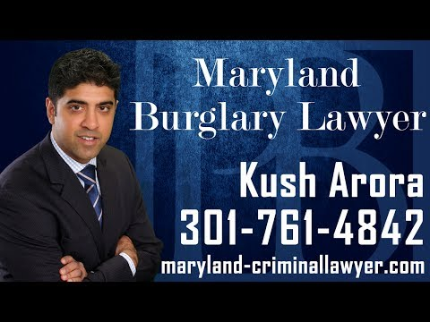 In Maryland, burglary is typically charged when an individual attempts to break into private property, and commit a criminal act. Typically,  that criminal act is theft, however the value of the item that was alleged to have been taken does not necessarily matter for burglary charges to be filed.