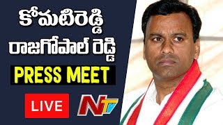 Komatireddy Rajgopal Reddy Press Meet against Notice - LIV..