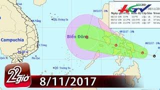 Áp thấp nhiệt đới lại sắp vào Biển Đông | CHUYỆN 22 GIỜ - 8/11/2017