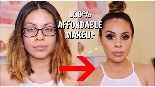DRUGSTORE MAKEUP TRANSFORMATION: GET READY WITH ME | JuicyJas