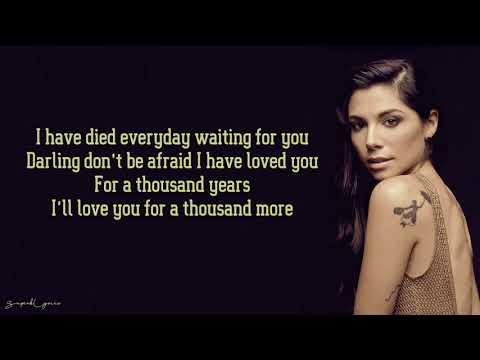 Christina Perri - A Thousand Years (Lyrics)