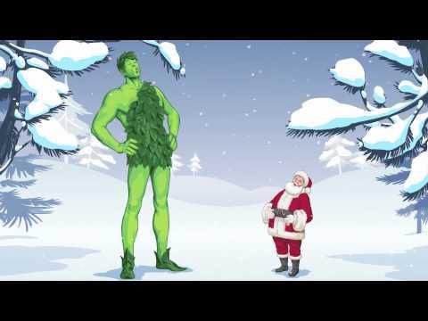 Green Giant and Santa- Ho! Ho! Ho!