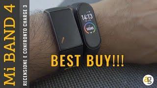 Recensione Mi BAND 4 Xiaomi BEST BUY! E confronto FitBit charge 3