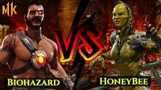 HONEYBEE USES D'VORAH IN MK11! HoneyBee vs Biohazard!