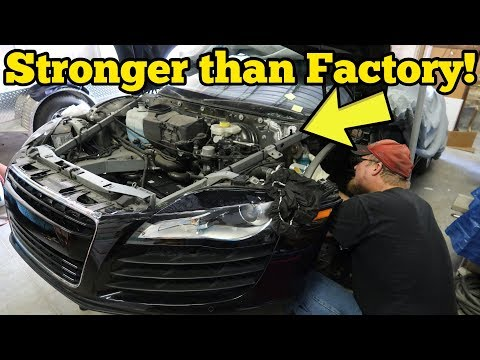 I Repaired My Totaled Audi R8's Cracked Frame for $500! Insurance Quoted $29,522!