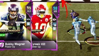 99 SPEED 99 OVERALL!! Tyreek Hill Unstoppable - Madden 19 Gameplay