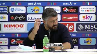 """Napoli-Atalanta 4-1, Gattuso: """"Arrabbiato per non aver sfidato la Juve"""""""