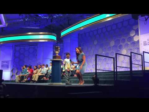 Akash Shoutout to Mr. Steve Harvey on ESPN live - @ Scripps National Spelling Bee - May 26th 2016