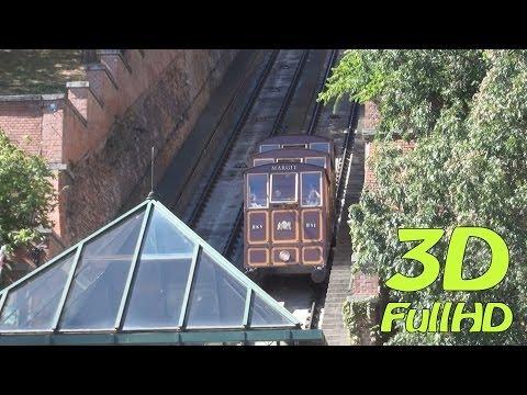 [3DHD] Funicular / Budavári Sikló / Kolej linowa, Budapest, Hungary / Magyarország / Węgry