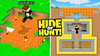 I made a SECRET Minecraft LAVA Base.. (Hide Or Hunt)
