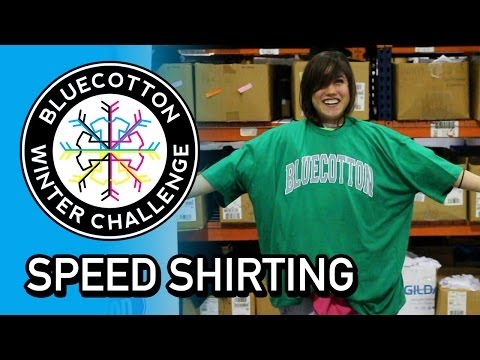 Speed Shirting Competition - BlueCotton Winter Challenge 2014