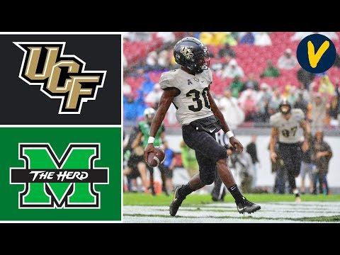 UCF vs Marshall Highlights | 2019 Gasparilla Bowl | College Football