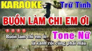 Buồn Làm Chi Em Ơi Karaoke Tone Nữ - Nhạc Trữ Tình   Trọng Hiếu
