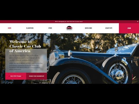 Classic Car Club Of America S New Website And Web Services To Be Poweredbyspeeddigital