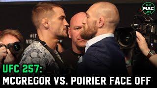 Conor McGregor vs. Dustin Poirier Face Off | UFC 257 Press Conference