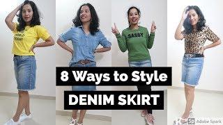 DENIM SKIRT ഇങ്ങനെ ഒക്കെ ഒന്നു STYLE ചെയ്തു നോക്കു I How to: Style Denim Skirt I Style with ASH