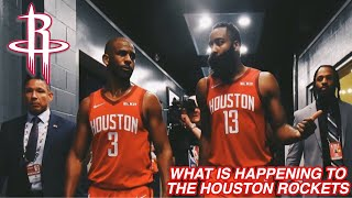 What is happening to the HOUSTON ROCKETS?? CHRIS PAUL+HARDEN BEEF?? TRADING ENTIRE TEAM??