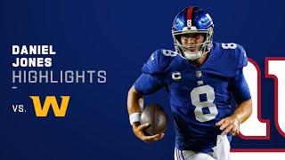 Daniel Jones' Best Plays vs. Washington | NFL 2021 Highlights