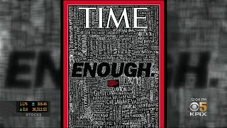 San Jose Artist Creates Scathing Time Magazine Cover On Mass Shootings This Year