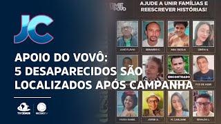 Apoio do vovô: 5 desaparecidos são localizados após campanha da SSPDS e do Ceará