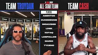 Team Cash vs Team Troydan NBA 2K20 All-Star Team Up Draft!
