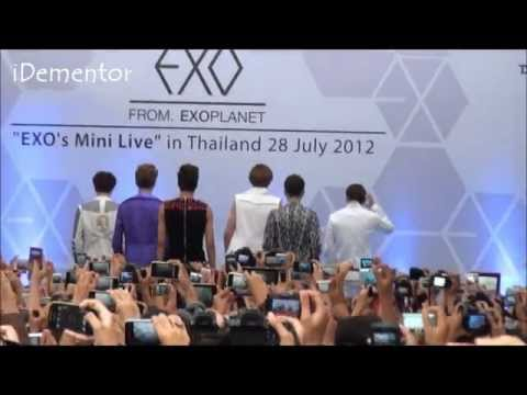 [Fancam] 120728 EXO Mini Live - History @ Siam Discovery Thailand